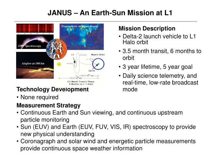 JANUS – An Earth-Sun Mission at L1