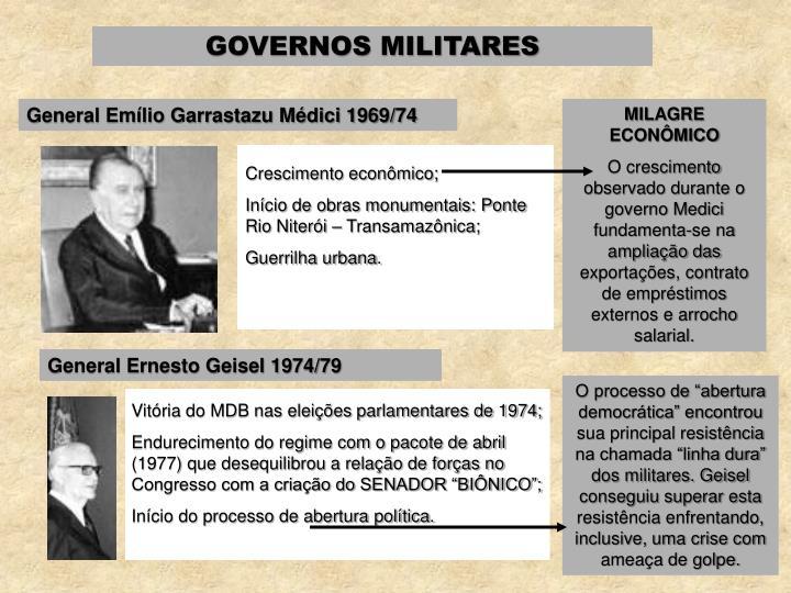 General Emílio Garrastazu Médici 1969/74