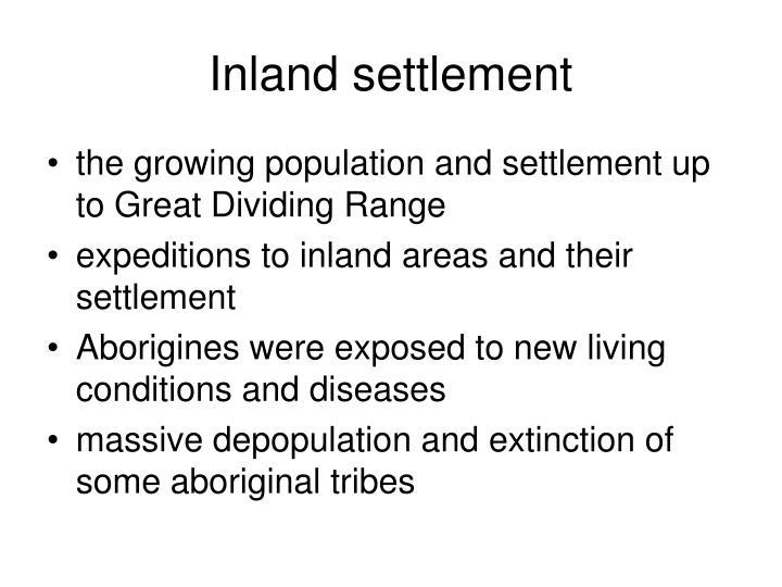 Inland settlement