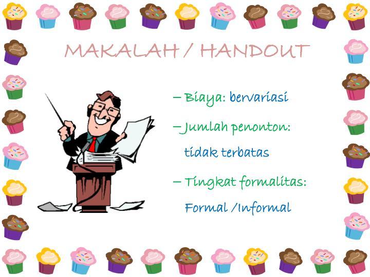 MAKALAH / HANDOUT