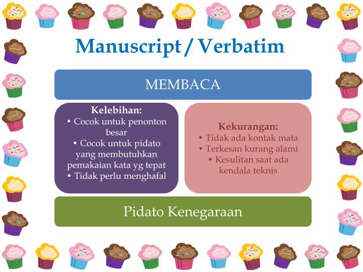Manuscript / Verbatim