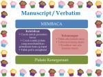 manuscript verbatim