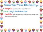 using your voice effectively 2