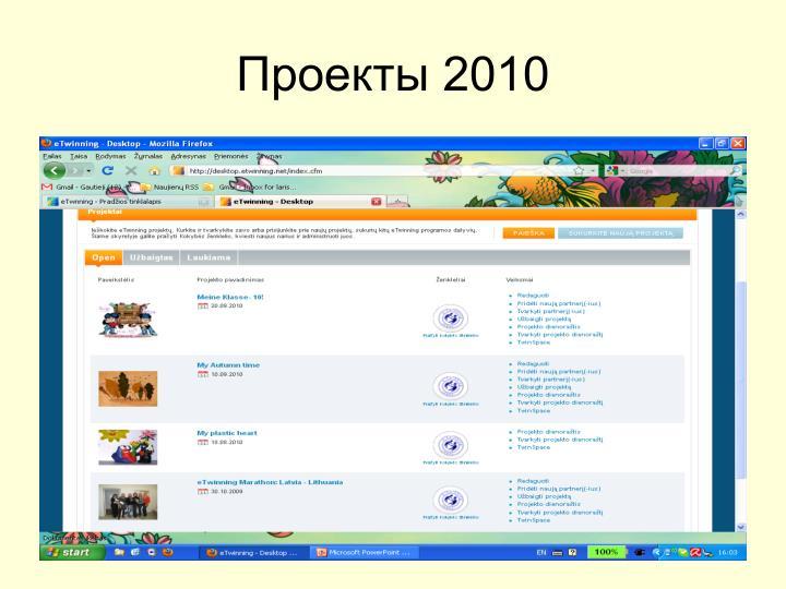 Проекты 2010
