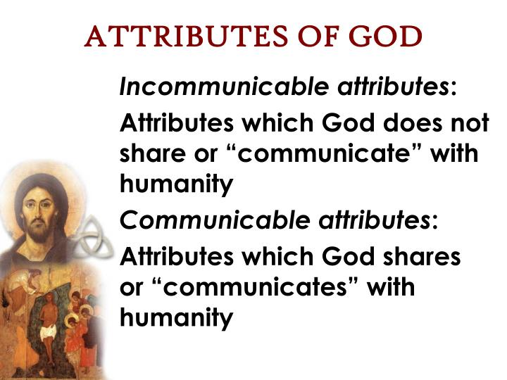 Incommunicable attributes