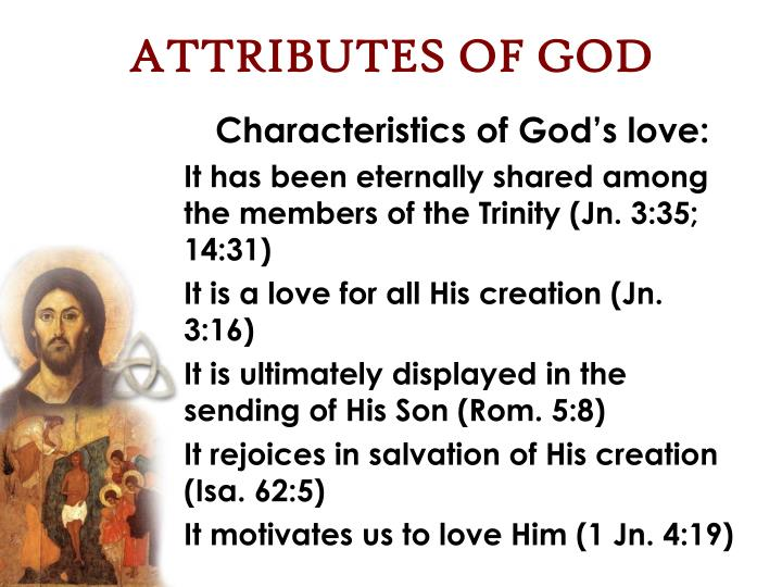 ATTRIBUTES OF GOD
