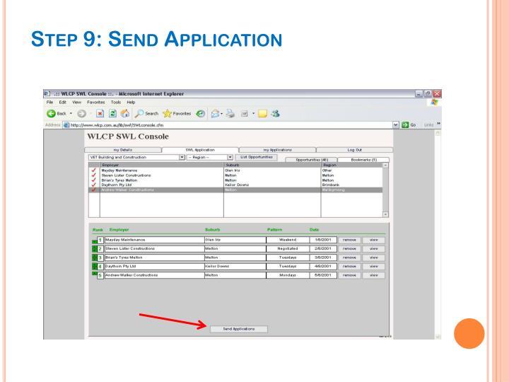 Step 9: Send Application
