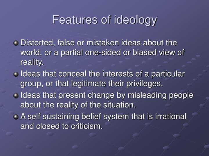 Features of ideology