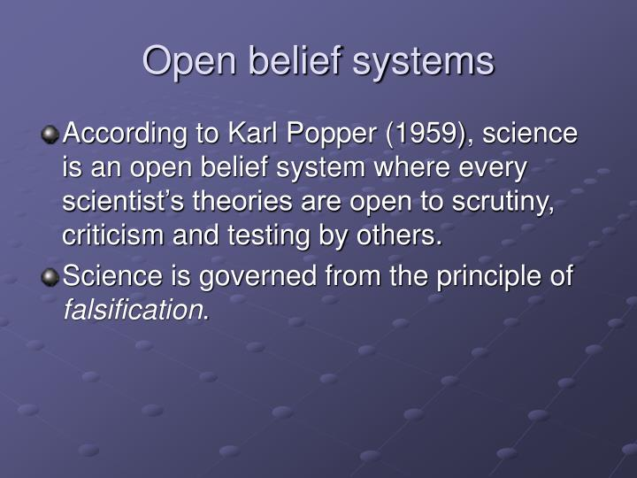 Open belief systems