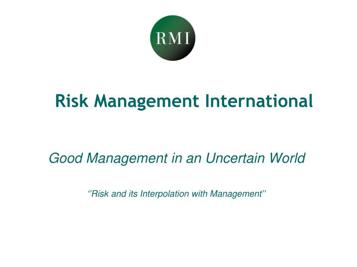 Risk Management International
