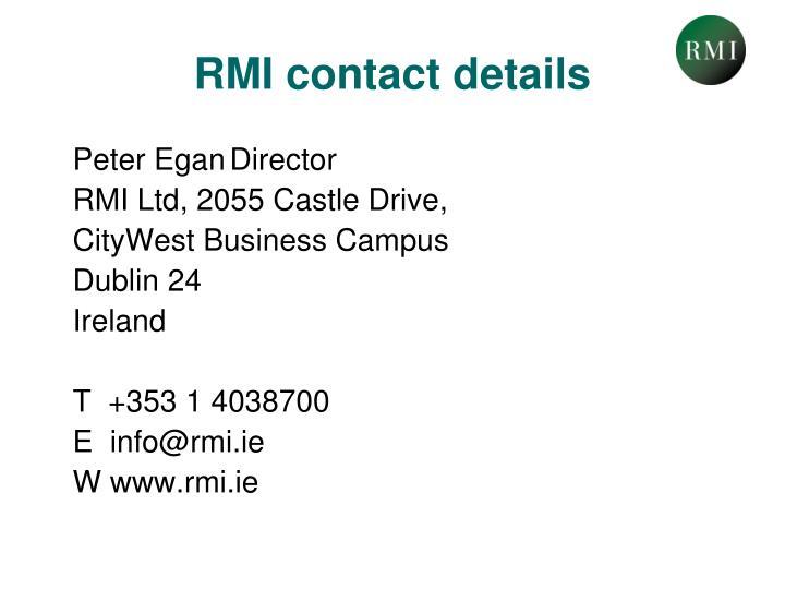 RMI contact details
