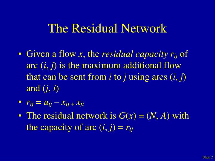 The residual network
