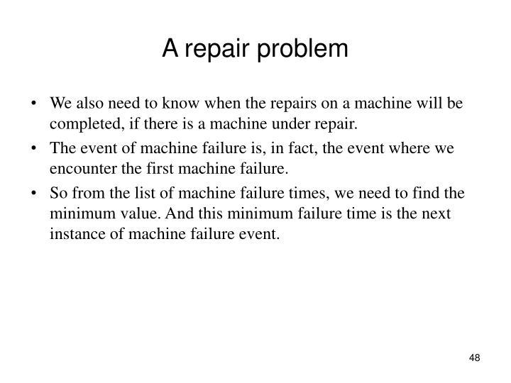 A repair problem