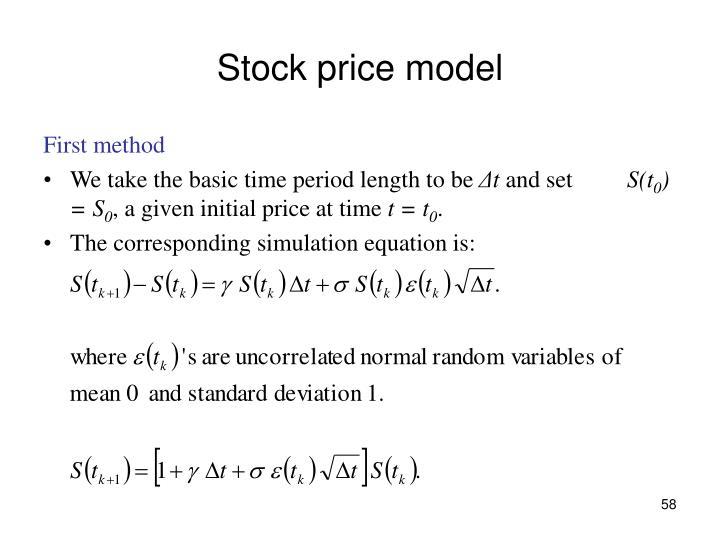 Stock price model