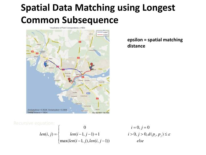 Spatial Data Matching using Longest Common Subsequence