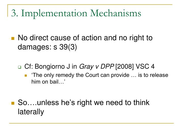 3. Implementation Mechanisms