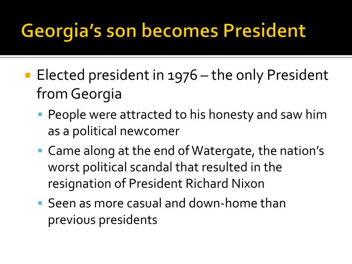 Georgia's son becomes President