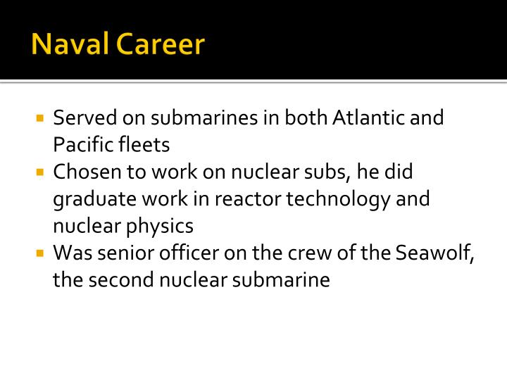 Naval career