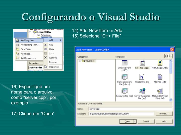 Configurando o Visual Studio