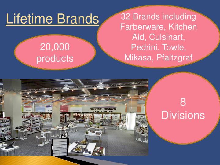 32 Brands including Farberware, Kitchen Aid, Cuisinart, Pedrini, Towle, Mikasa, Pfaltzgraf
