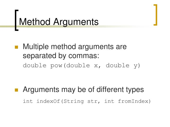 Method Arguments
