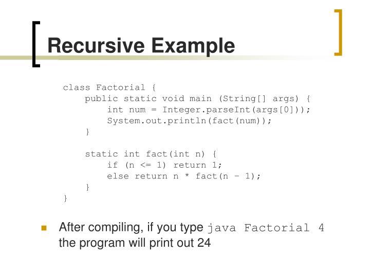 Recursive Example