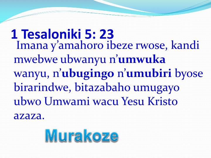 1 Tesaloniki 5: 23