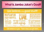 what is jamba juice s goal