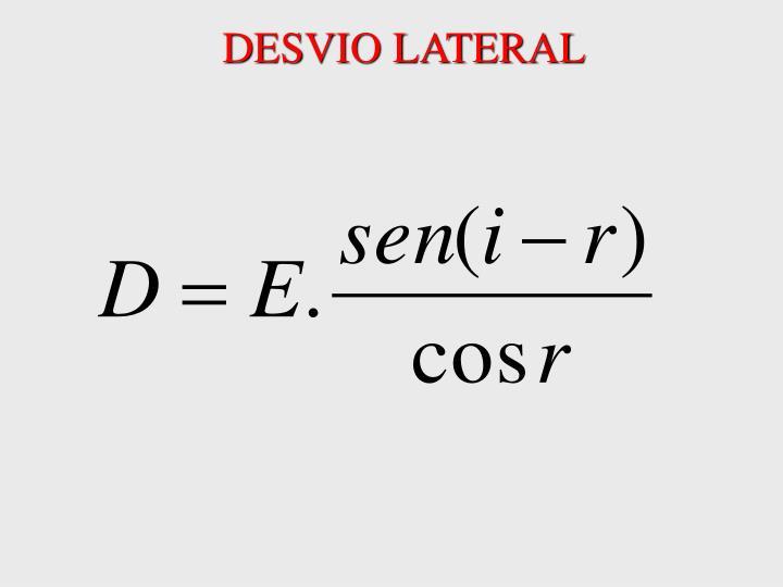DESVIO LATERAL