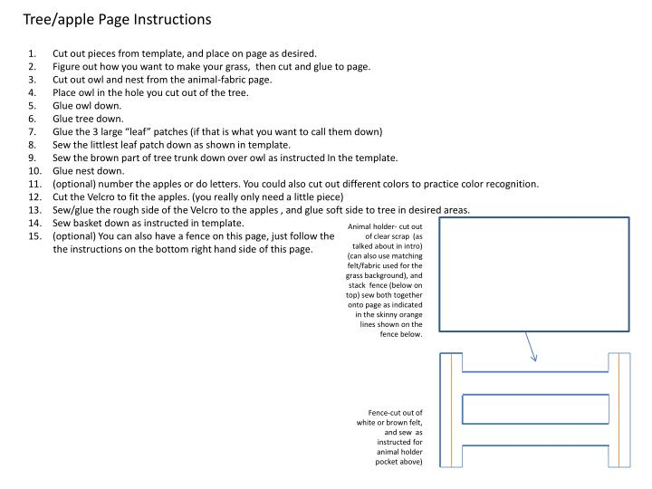 Tree/apple Page Instructions