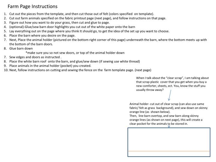 Farm Page Instructions