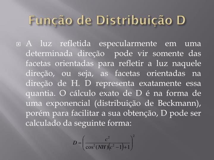 Função de Distribuição D