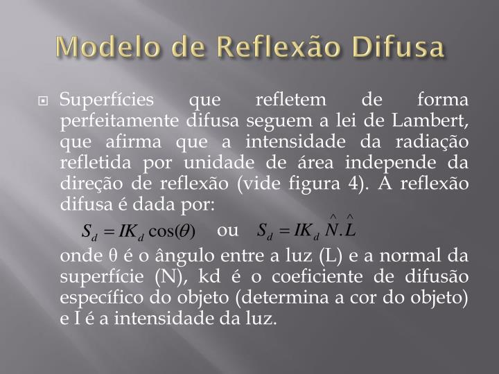 Modelo de Reflexão Difusa