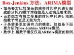 box jenkins arima