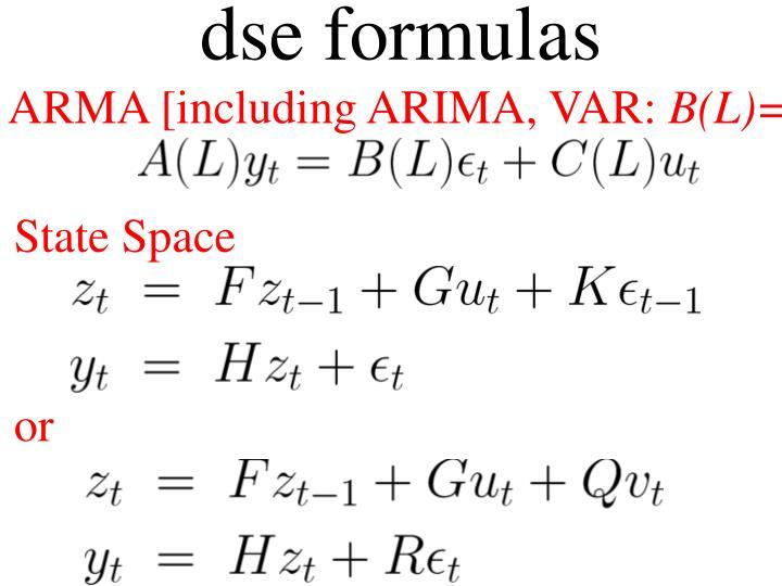 dse formulas