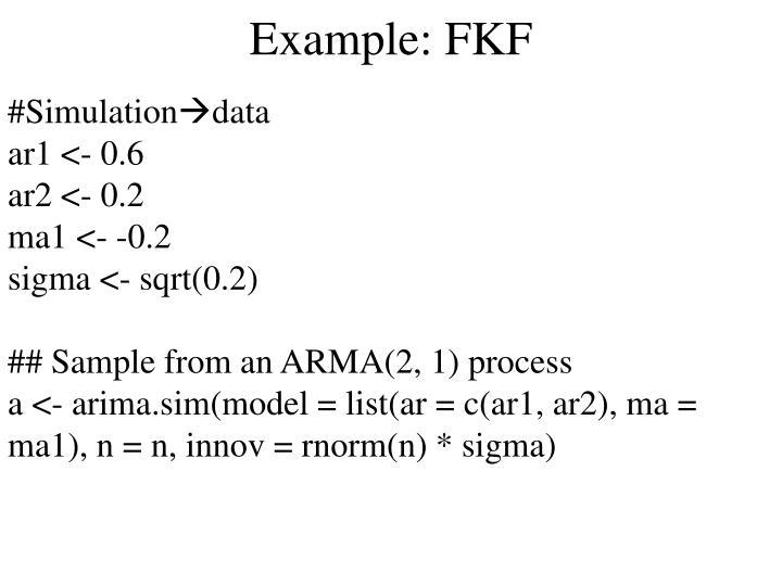 Example: FKF