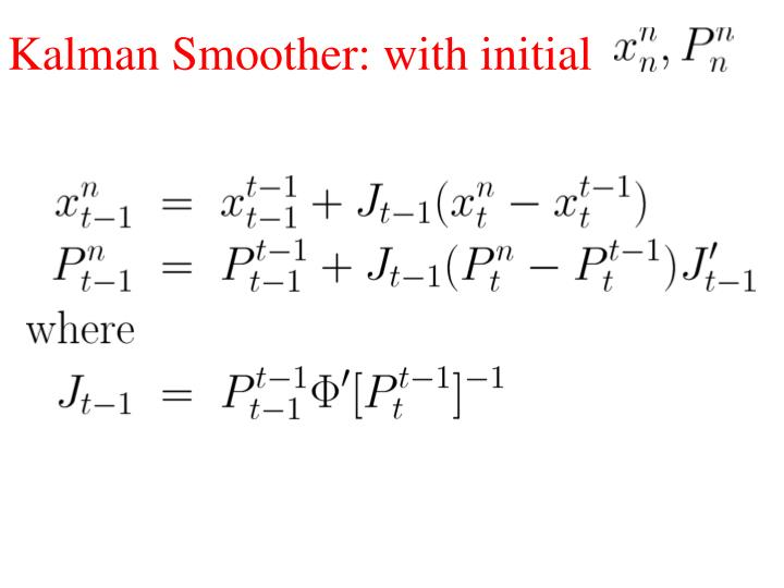 Kalman Smoother: with initial
