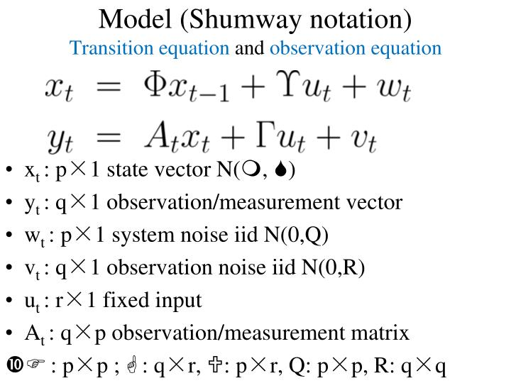 Model (Shumway notation)