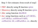 step 3 get estimates from result of step2