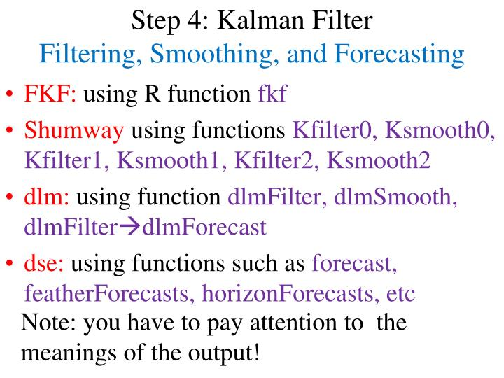 Step 4: Kalman Filter