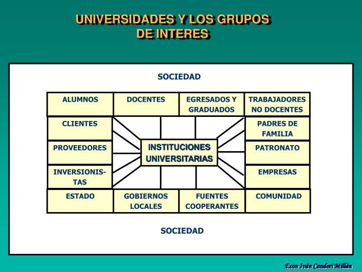 UNIVERSIDADES Y LOS GRUPOS DE INTERES