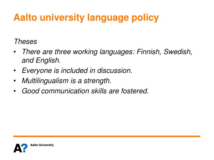 Aalto university language policy