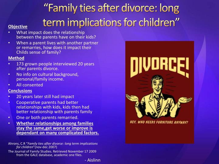long term impact of parental divorce