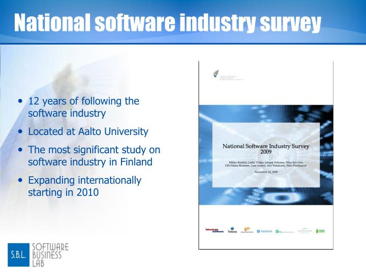 National software industry survey