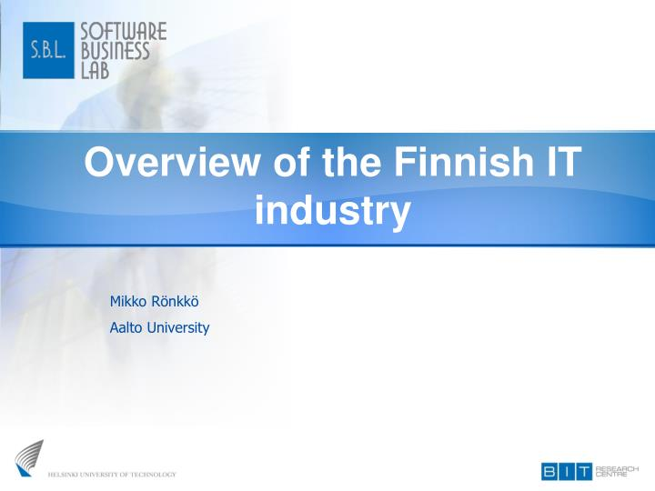 Overview of the finnish it industry