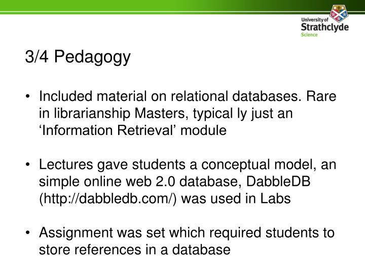3/4 Pedagogy
