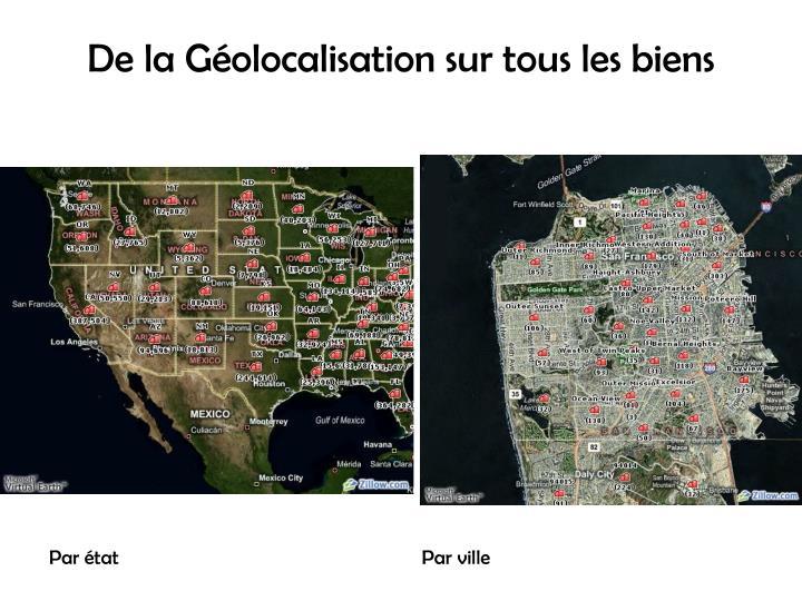 De la Géolocalisation sur tous les biens