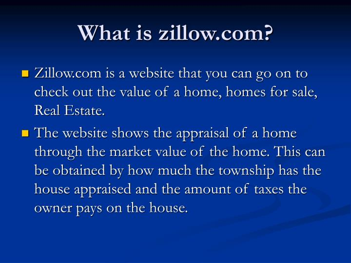What is zillow.com?