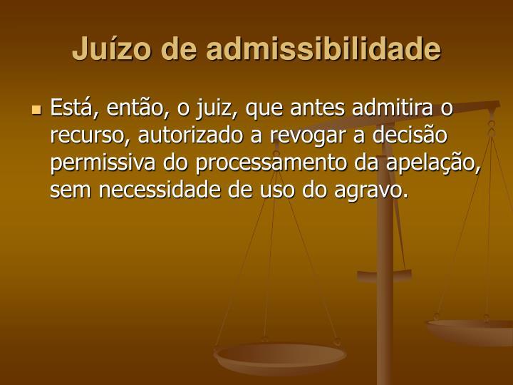 Juízo de admissibilidade
