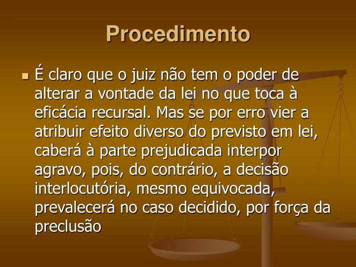 Procedimento